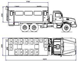 Автобусы для перевозки вахтовых бригад